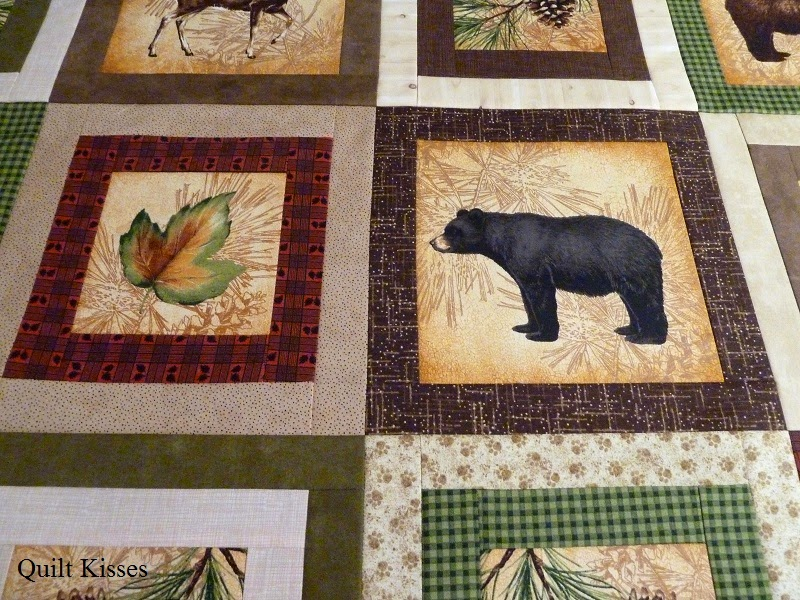 Quilt Kisses: An Outdoorsy Flimsy Finish : quilted bear hours - Adamdwight.com