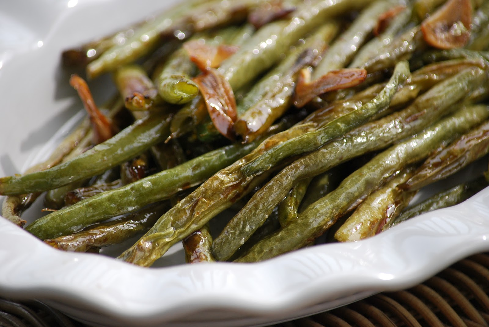 Roasted Green Bean Recipes Not on green beans anyway.