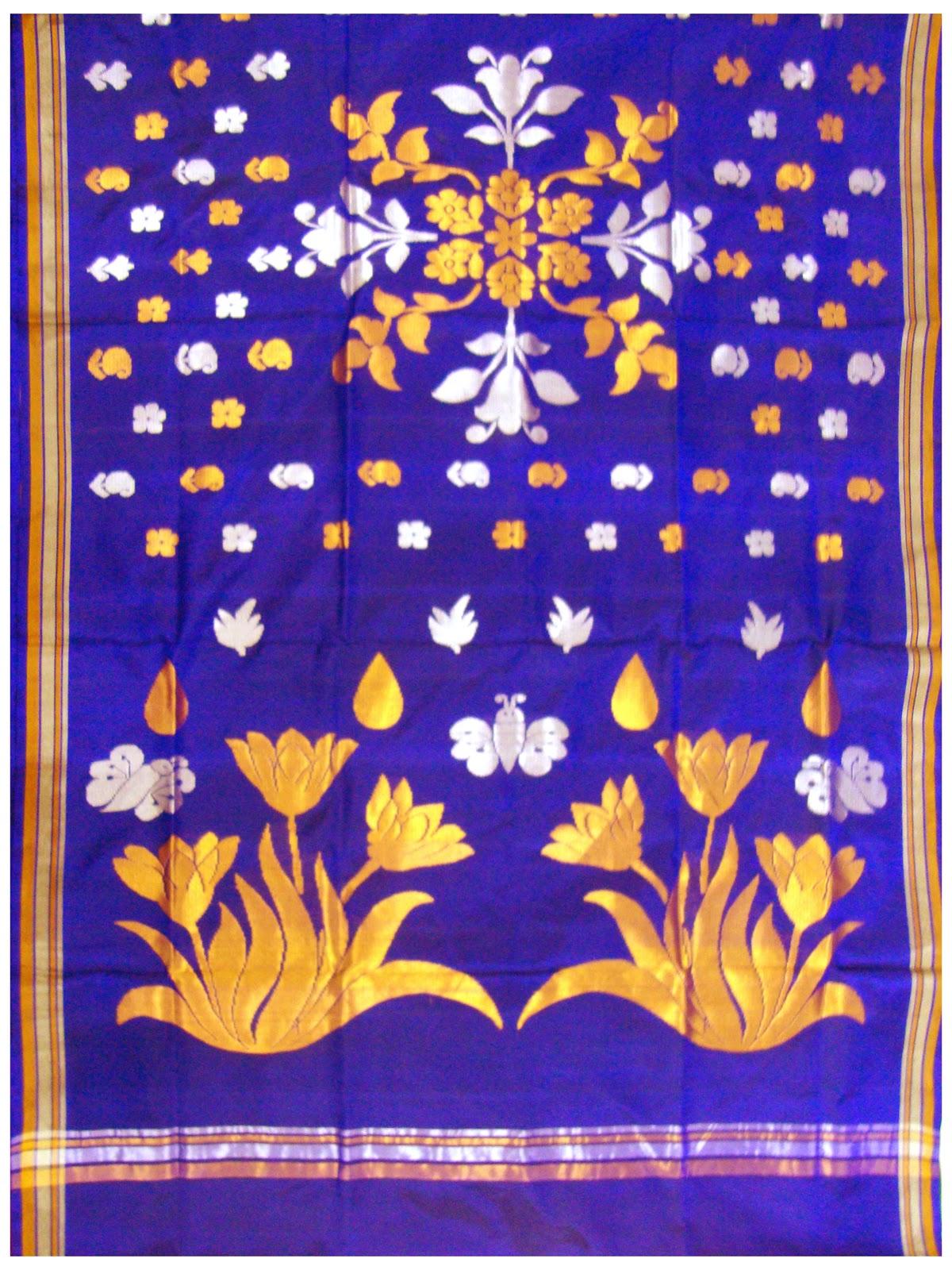 Venkatagiri Sarees Mirrored Flower Motif