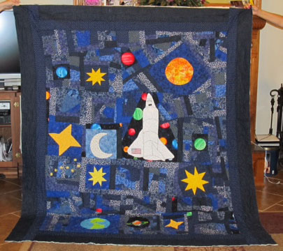 Beebee 39 s quilts and more outer space quilts for Outer space quilt patterns
