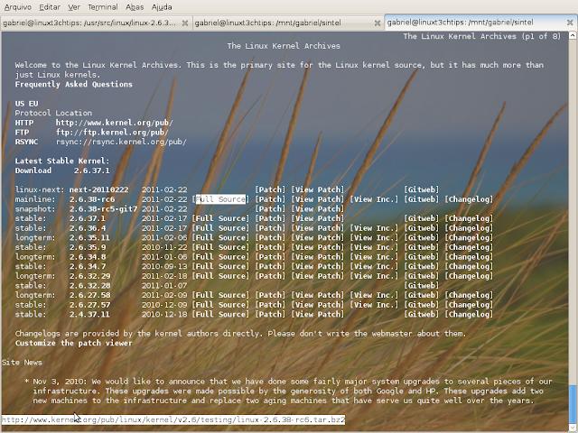 escolhendo o kernel a ser baixado pelo terminal