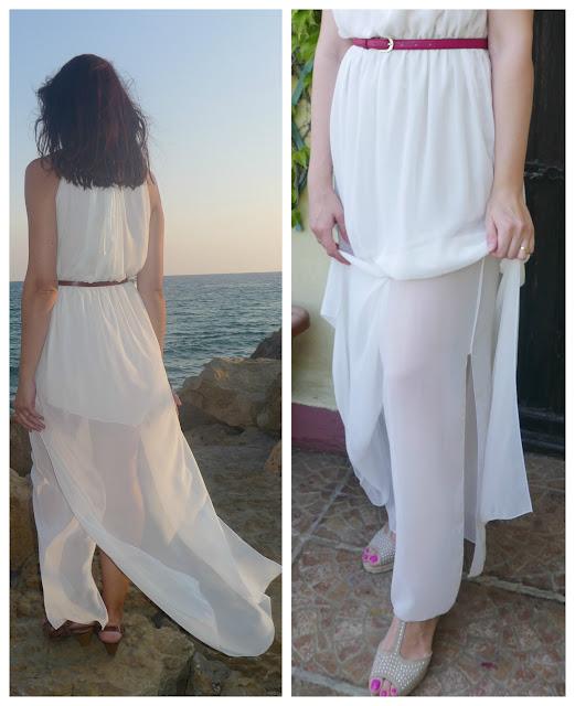 Costura de forro en vestido de verano