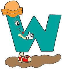 alfabeto colorido letra w