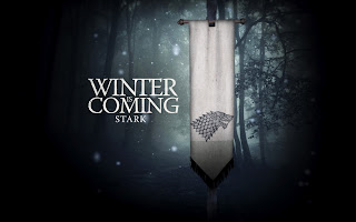 Starks Wold Flag Winter is Coming Game of Thrones Wallpaper