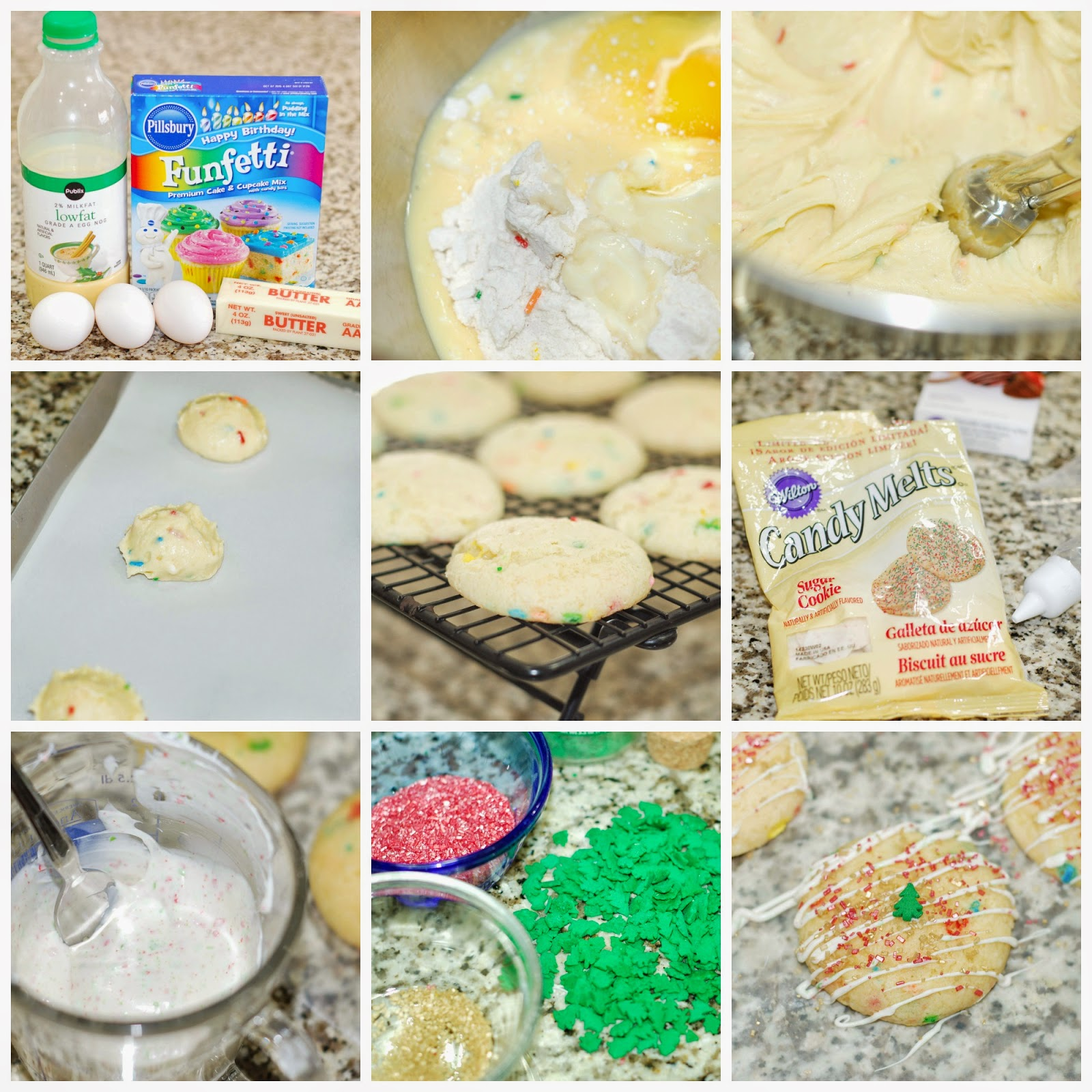 Making Eggnog Funfetti Cookies by The Sweet Chick