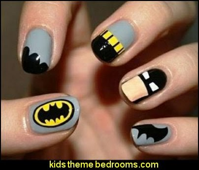 SUPERHEROES Nail Decals - Nail Stickers - Decorating Theme Bedrooms - Maries Manor: Nail Art - Superhero Nail