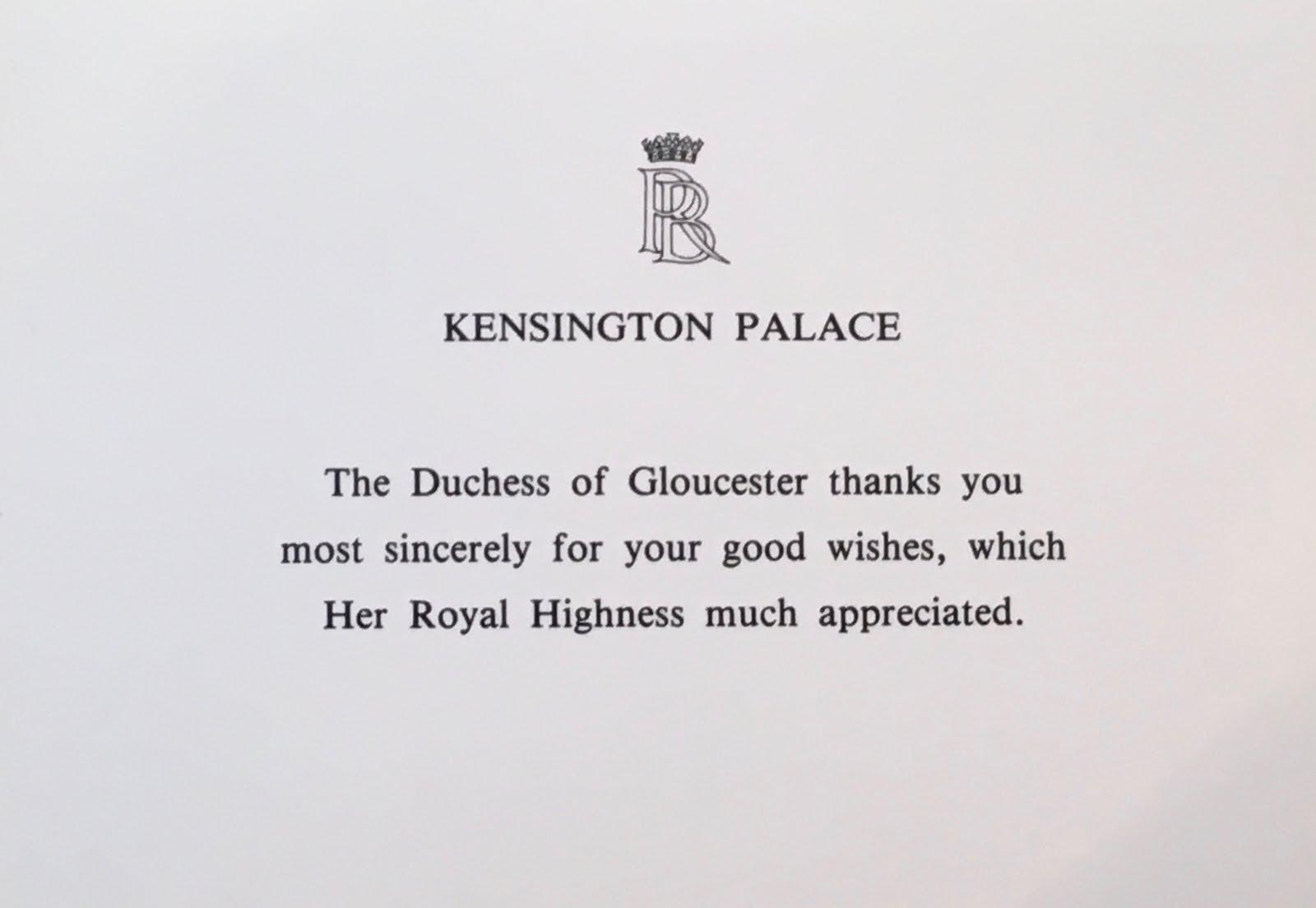 Gerts Royals Duchess Of Gloucester Birthday Denmark Anniversary