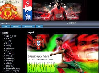 Manchester United Blogger Template