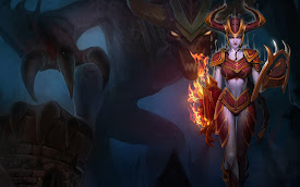 shyvana dragon league of legends lol girl champion hd wallpaper 1680x1050