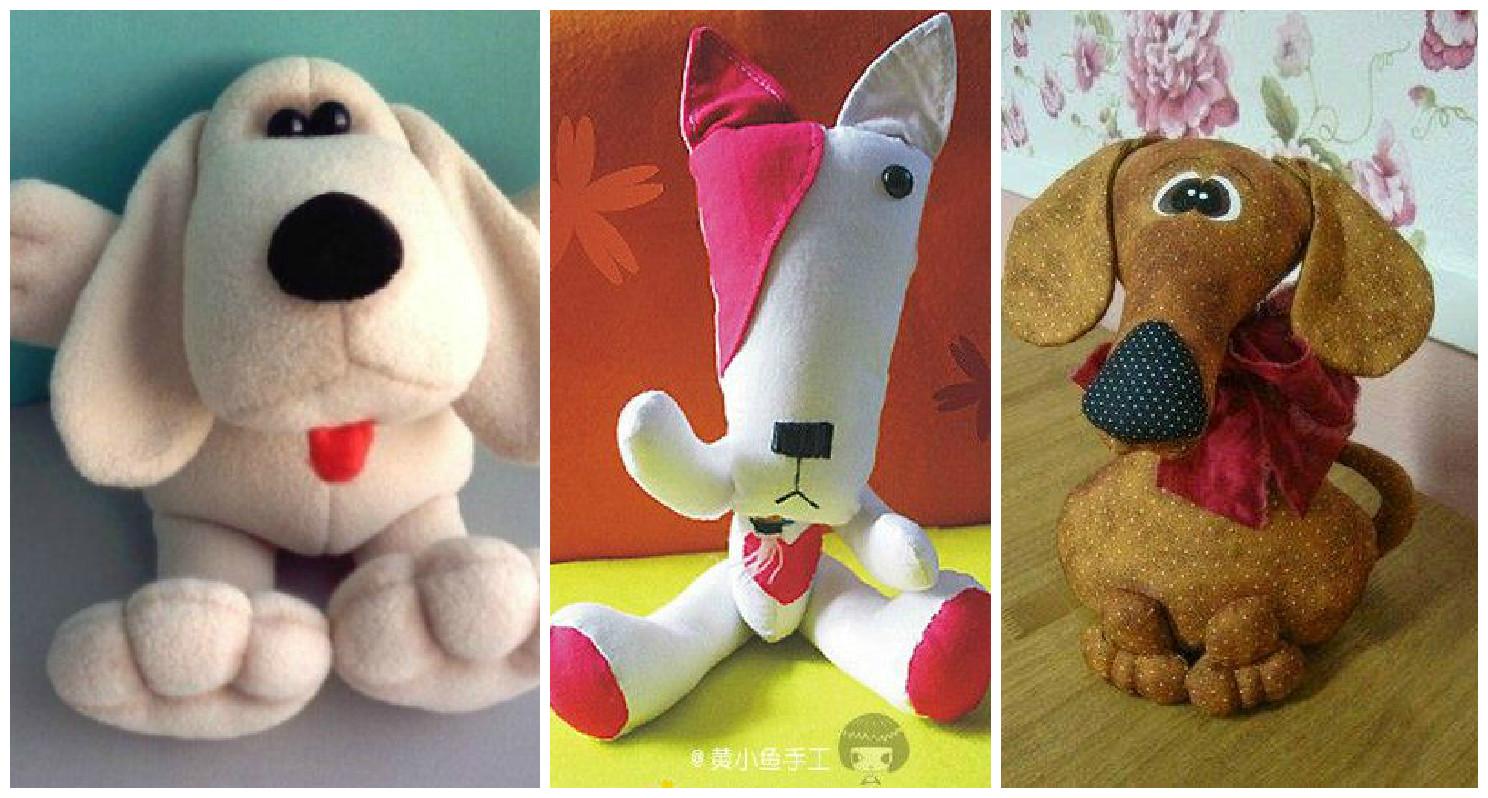 4 moldes para hacer perritos en tela o peluche cositasconmesh - Hacer manualidades con telas ...