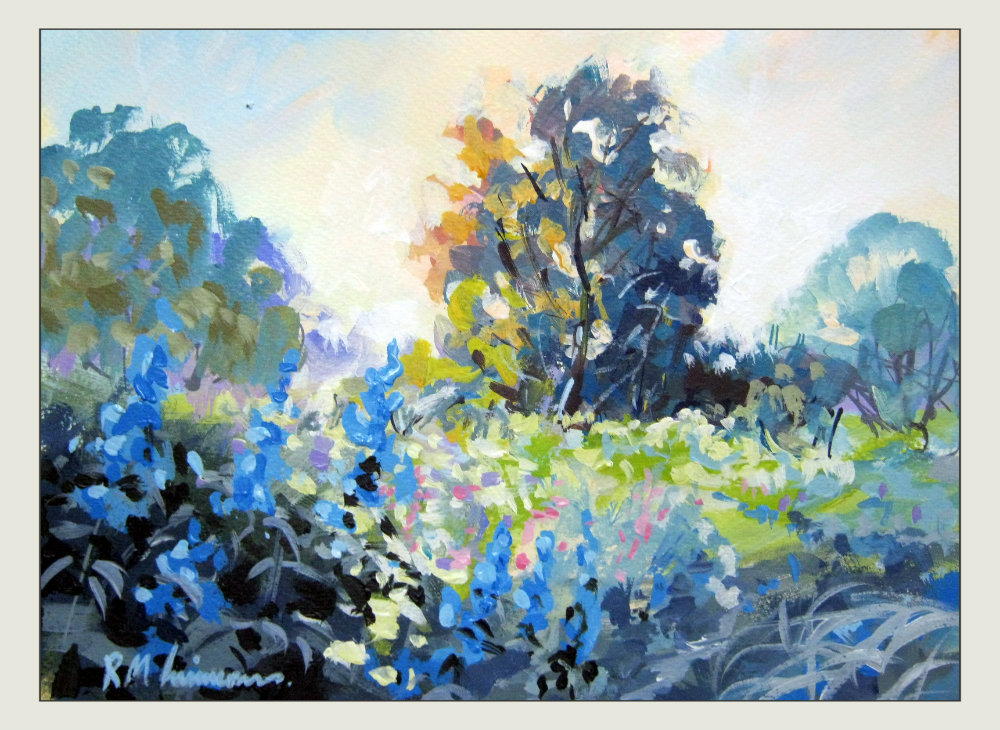 In An English Country Garden Acrylic Paintings