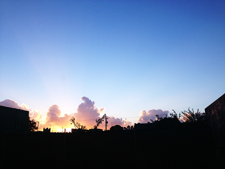 Miami sunset in Wynwood