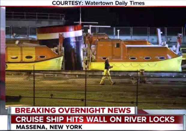 Cruise ship crashes into the lock with 22 injured