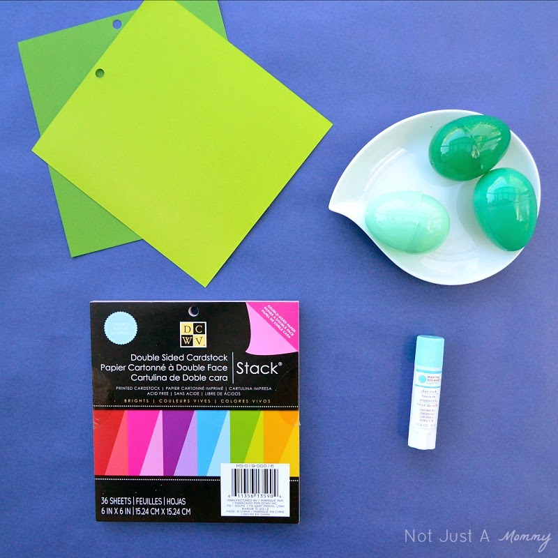 DIY colorful Easter paper baskets supplies
