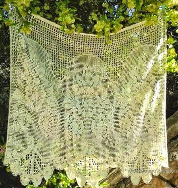 10 patrones de cortinas crochet filet