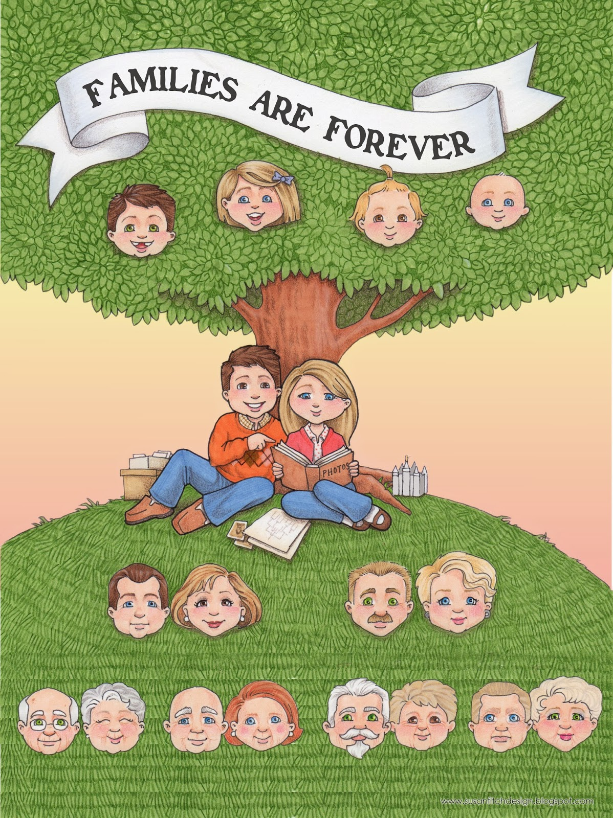 susan fitch design: Forever Family Tree