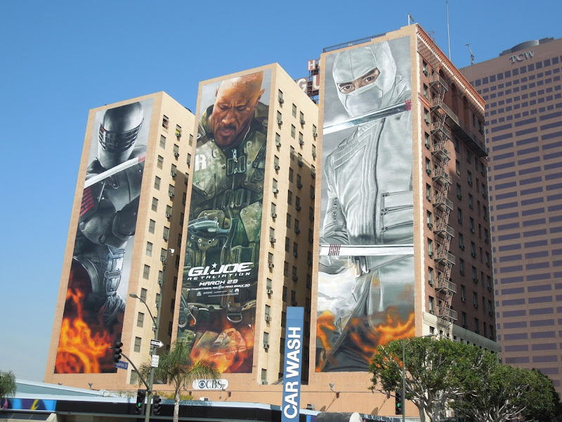 Giant GI Joe Retaliation movie billboards