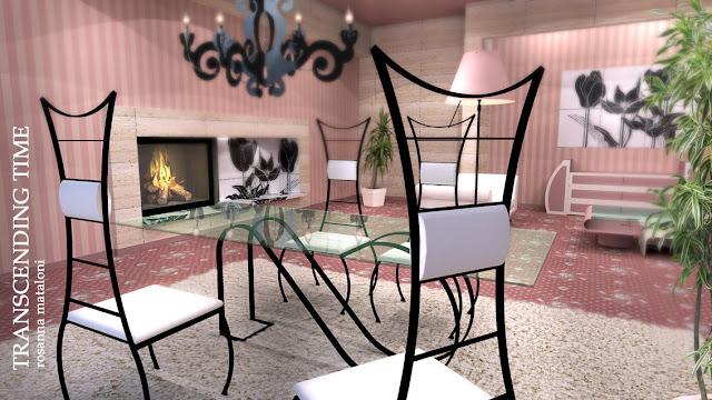 "sketchup model 3d scene  ""Transcending time""- render"
