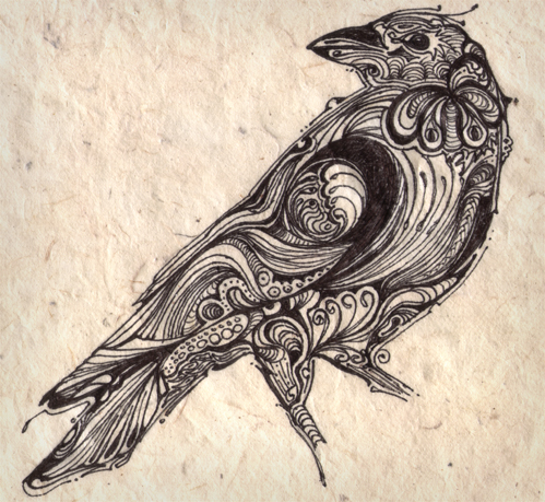 Arnaud montebourg blog crow tattoos designs and meaning for Raven bird tattoo