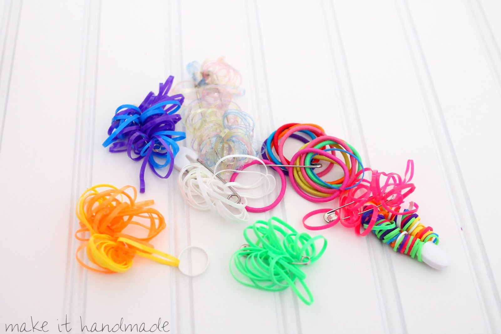a simple storage solution for hair ties and rubber bands!