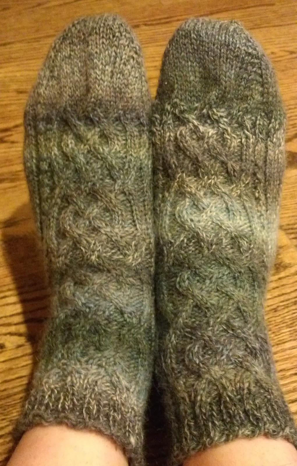 Pattern: Celtic Cable Toe Up Socks   Knit A Bit Crochet Away