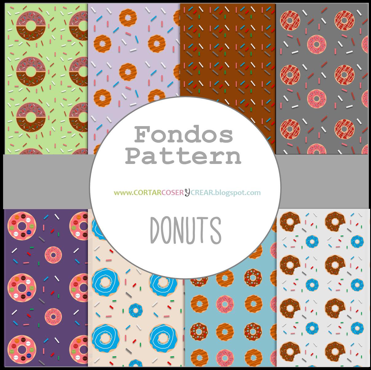 fondos pattern gratis donuts