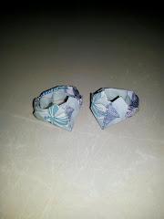 这两枚我用RM1折出来的戒指~
