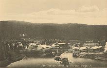 Sagbruket som førte til at Fossestua ble bygget. Begge eid av staten.
