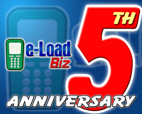 e-loadbiz 5th year anniversary giveaway