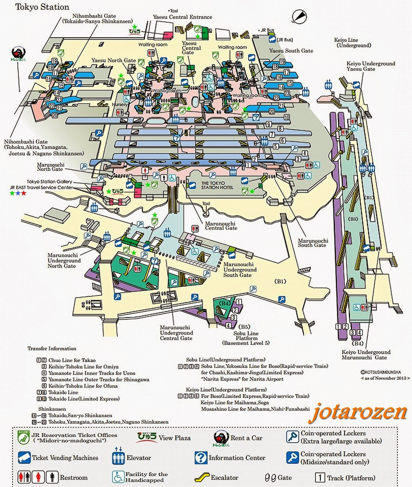 Footsteps jotaros travels travel tips japantokyo kamakura map of tokyo station click here for pdf copy fandeluxe Document