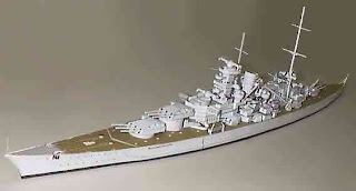 Battleships Sharnhost Papercraft Replika, Germany