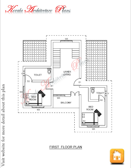2000 Square Feet Home Plan Four Bedrooms Architecture