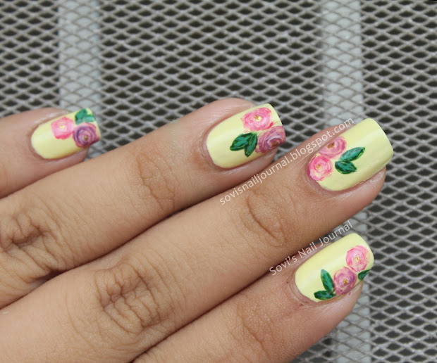 sovi's nail journal pink and purple