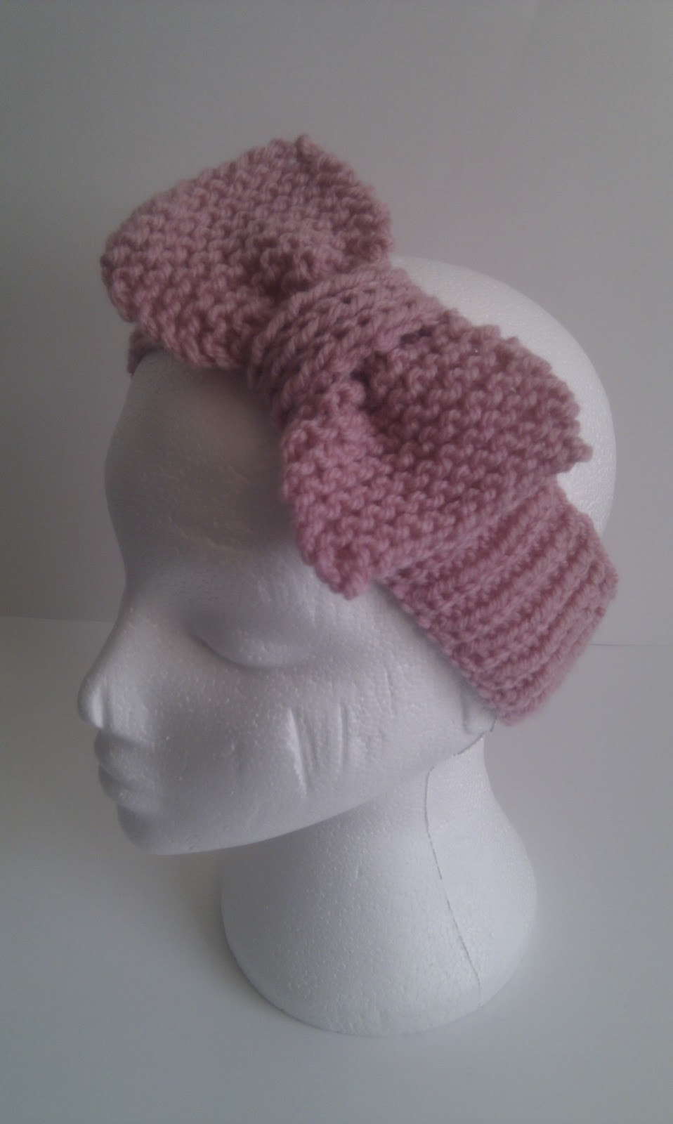 Knitted Headband With Bow Pattern : Musings of a knit-a-holic from Wales: Free Knitting Pattern: Beau Bow Headband