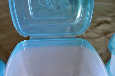 Tupperware with attached lid you can't lose
