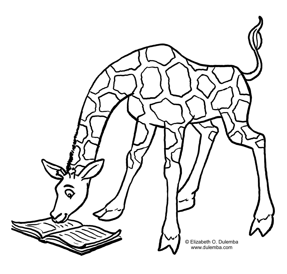 Outline of Giraffe for Preschoolers http://printablecolouringpages.co.uk/?s=giraffe%20outline&page=1