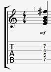 EmAdd9 guitar chord