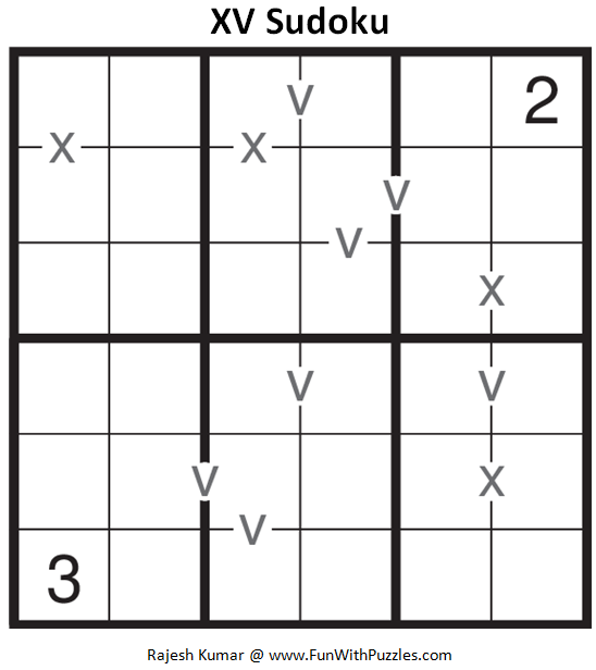 XV Sudoku (Mini Sudoku Series #64)