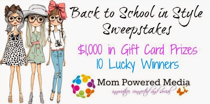 Enter the Back to School in Style Sweepstakes. Ends 8/19.