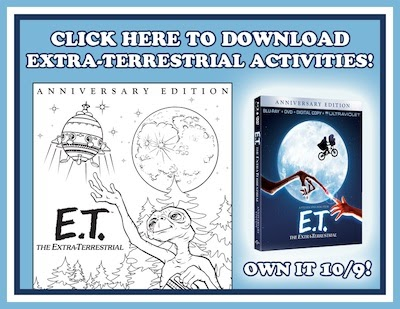 click below to print out your free et anniversary edition coloring pages and fun activity sheets