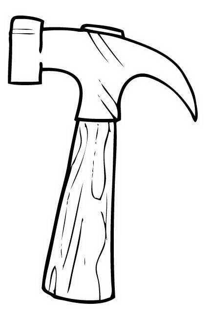 Dibujos infantiles para colorear un martillo animado - Imagui