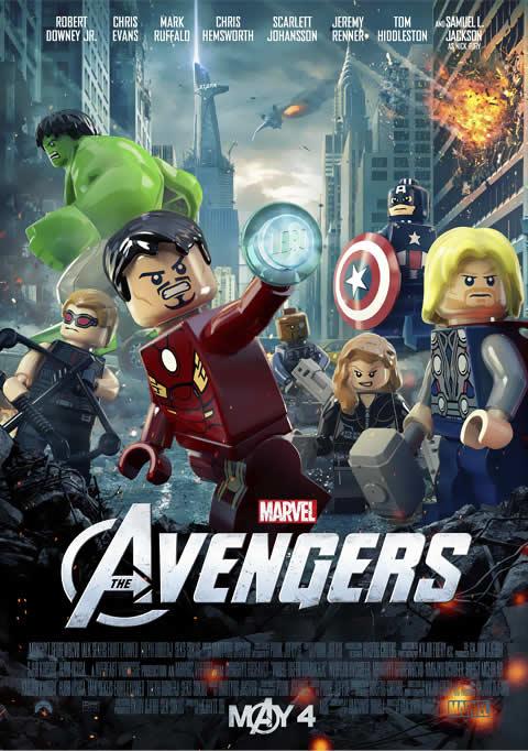 Vingadores Lego Poster