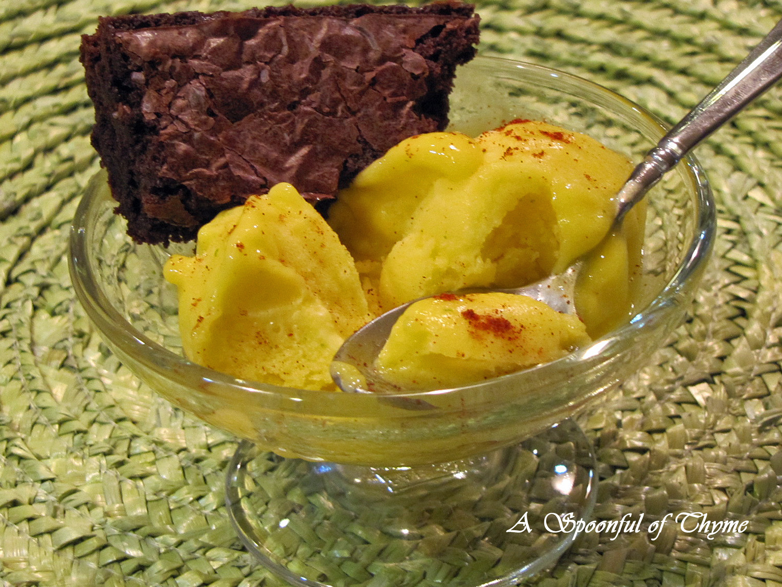 Spoonful of Thyme: Mango-Chile Ice for Dessert!