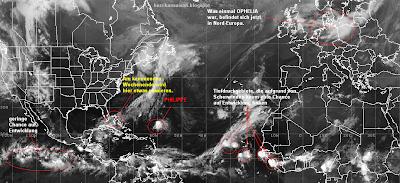 Das Wort zum Mittwoch, 5. Oktober 2011 - Die anscheinende Ruhe täuscht, Das Wort zum, Atlantik, Pazifik, Indischer Ozean Indik, Oktober, 2011, Hurrikansaison 2011, Taifunsaison, aktuell, Vorhersage Forecast Prognose, Satellitenbild Satellitenbilder,