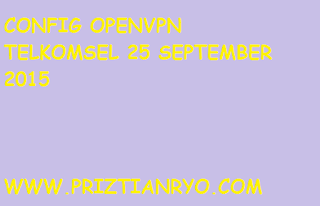 (UPDATE) Config OpenVPN Telkomsel 25 September 2015