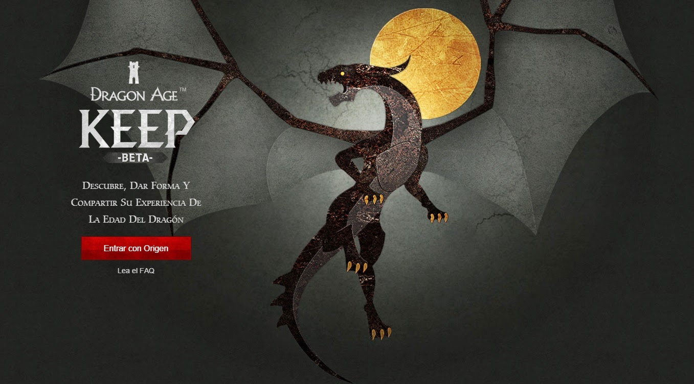 dragon age keep beta cuenta origin