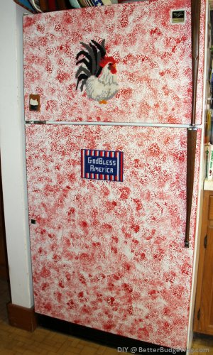 Painted refrigerator DIY project
