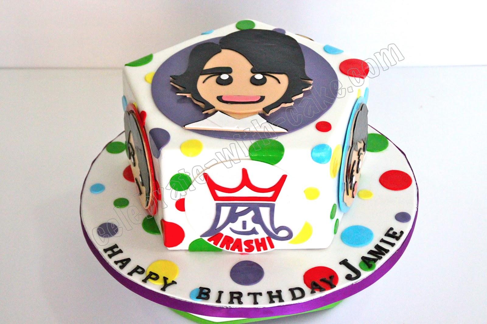 Celebrate with Cake Arashi Band Cake
