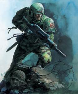 Jes Goodwin Working on the Imperial Guard