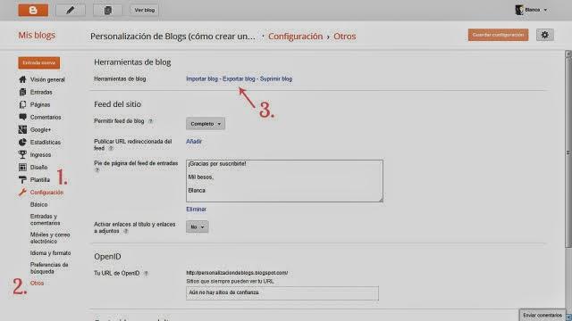 Como hacer copias de seguridad del blog